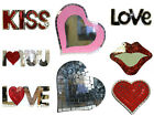 Glass Mosaic Decor Mirrors Room decorations to say I Love You Hearts Lips D01