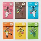 SNS LINE FRIENDS BROWN, CONY, SALLY, etc. Cute Metal Key Chain Keyring (6Types)
