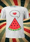 Watermelon Seed Happy Heart Smiling Tumblr Fashion T Shirt Men Women Unisex 1749