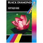 BLACK DIAMOND PREMIUM DUO DOUBLE SIDED A4 PHOTO PAPER 50 SHEETS 220GSM MATT