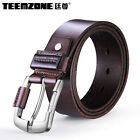 Men's Genuine Leather Business Antique Style Dress Jean Single Prong Belt