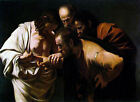 (Classic Mannerist Religoius Art Print: Incredulity of St. Thomas by Caravaggio