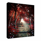 Enchanted red forest Canvas Art Cheap Wall Print Home Interior