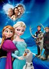 Personalised Photo, Bedroom Disney Frozen Anna & Elsa and Cast Print A4, A3 Size