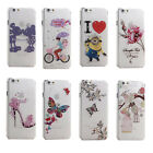 Cartoon Butterfly Flower Crystal Diamond Clear Case Cover For iPhone 6 6 Plus