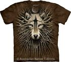 Wolven Roots Adults Unisex Wolf T-Shirt by The Mountain T-Shirts - BRAND NEW!