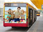 Personalised Any Photo Bus Theme Billboard Print A4, A3 Size