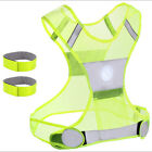 Reflective Safety Vest 3 Sizes & 3M Bands Jogging Running Walking Biking Cycling