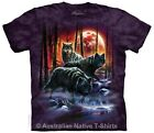 Fire and Ice Wolves Adult Wolf T-Shirt by The Mountain - Small to Big Plus Sizes