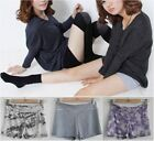 Striped Sexy Modal Cotton Yoga Sport Exercise Safety Shorts Hot Pants Panties