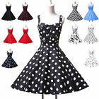 Flower Pattern/Polka Dots 1950s Vintage Bridesmaid Rockabilly PROM Party Dresses