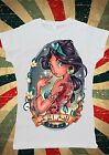 Disney Princess Jasmine Aladdin Tattoo Arabic Women T-Shirt Vest Tank Top W133