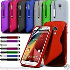 S-Line Slim TPU Silicone Sports Wave Gel Case for Motorola Moto G 4G 2nd Gen