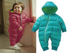 6-12 Month Boy Girl Snowsuit, Thick & Warm for Winter, Snow, Polyester & Fleece