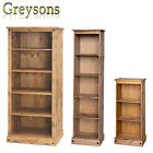 NEW Corona Mexican Pine Bookcase / Storage Unit / Display Cabinet - Tall / Small