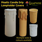 Plastic Candle Drip Cover Sleeve Multiple Sizes & Colours