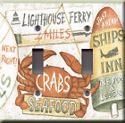 Light Switch Plate Cover - Country kitchen seafood - Lighthouse lobster crab sea