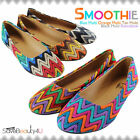 Womens Crochet Zig Zag Ballet Flats Slip On Round Toe Multi Color Flat Shoes