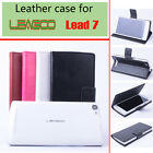 "Protective Flip PU Leather Case Slot Cover For 5"" Leagoo Lead 7 Mobile Phone R-L"