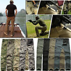 New Casual Mens Long Tactical Pants Military Army Cargo Camo Combat Work Trouser