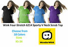 Wonder Wink Four-Stretch 6214 V Neck Scrub Top All Sizes & Colors Free Shipping!