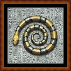 EGYPTIAN SNAKE -14 COUNT CROSS STITCH CHART PDF/PRINTED FREE PP WORLDWIDE