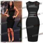 Womens Sexy See Through Mesh Fromal Cocktail Evening Party Bodycon Mini Dresses