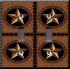 Light Switch Plate Cover - Star area deco - Ranch texas cowboy western countries