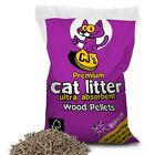CJs Premium 5L 15L Cat Kitten Litter Ultra Absorbent 100% Wood Based Pellet