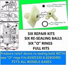 "SIX Pressure Relief Device ""PRD"" 82800450 * REPAIR KITS* Fits all Triton showers"
