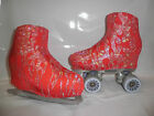 Red with Silver Flames Boot Covers for RollerSkates and Ice Skates  S,M,L