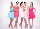 Gorgeous Elegant  Sleeveless Bridesmaid Dress Ruched Bodice with Belt A line