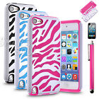 For iPod Touch 5th Gen HARD&SOFT RUBBER HIGH IMPACT ARMOR CASE COVER HYBRID+Film