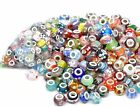 MIXED LOTS Lampwork Glass Charm Beads For European Snake Chain Charm Bracelets