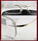 Rimless reading glasses super light Flexible wrap .75 1 1.25 1.5 1.75 metal Gold