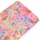 FQ. PAINTING OF FLOWER FIELD RETRO PRINT Cotton Fabric Dress Quilting Craft VA70