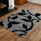 MODERN MEDIUM SMALL LARGE EXTRA LARGE GREY BLACK  CARVED BEST QUALITY SHAGGY RUG