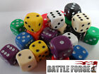 20 10mm OPAQUE SIX SIDED SPOT DICE - GAMES RPG D6 10 Colours - NEW - Educational