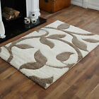 SMALL MEDIUM MODERN LARGE CREAM BEIGE  CARVED SHAGGY DESIGN BEST QUALITY RUGS