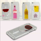 New Hard PC 3D Glass with Wine Beer Drinking vessel Case Cover For iPhone