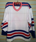 BRAND NEW CCM NEW YORK RANGERS HEAVY WEIGHT AWAY WHITE COLOR JERSEYS SR USA MADE $24.99 USD on eBay