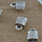 DIY Jewelry Findings Tibetan Silver 13mm Hole 3mm Lock Pendant Beads YJ-1082