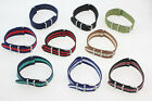 Watch Strap Striped Band Webbing Army Military Choice of colours, sizes M