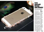 Deluxe Bling Diamond Brushed Metal Case Cover For Apple iphone 5 5S