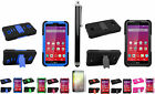 Stylus Pen+Screen Protector+Side Stand Case Cover for LG Tribute LS660 F60 Phone