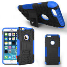 "For iPhone 6 Case 4.7"" 5.5"" Heavy Duty Rugged Grip TPU Hard Cover w/Kick Stand"