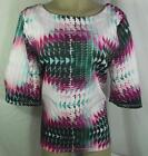 6th & Lane Womens Plus Size Shirt Top Multi Color Blouse Size 12 14 16 20 24 New