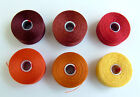 C-LON BEAD THREAD Size D or AA  6  SHADES  RED ORANGE YELLOW