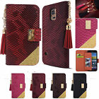Anaconda Skin PU Leather Book Cubic Wallet Diary billfold Case ID Card Holder