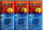BEADING NEEDLES PONY SIZE 10 & 12,   1  PACK OF 6 NEEDLES